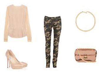 Idea of ​​look with a camouflage pants