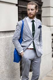 Men's Fashion Spring 2014 Grey Suit 1