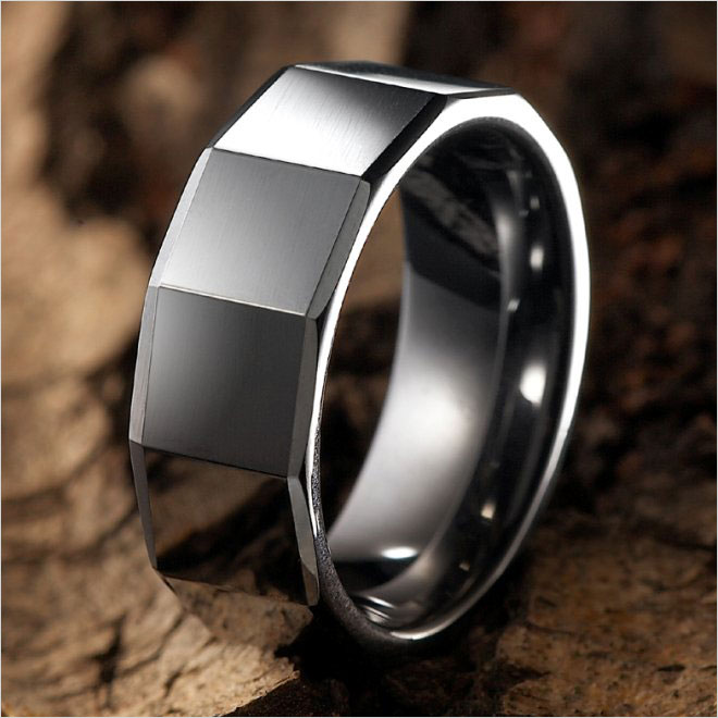 Modern-RnB-Mens-Tungsten-Ring-Wedding-Band-8mm-Silver-main