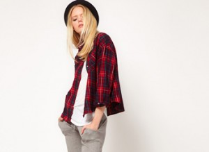What to wear with a plaid shirt red