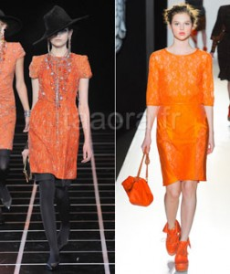 Orange color trend Winter