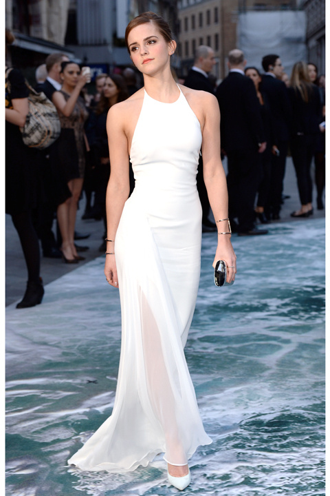 emma watson white dress